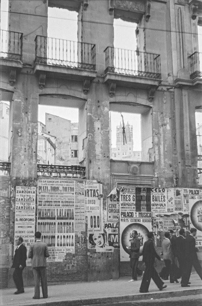 Ruinas edificios de Madrid posguerra