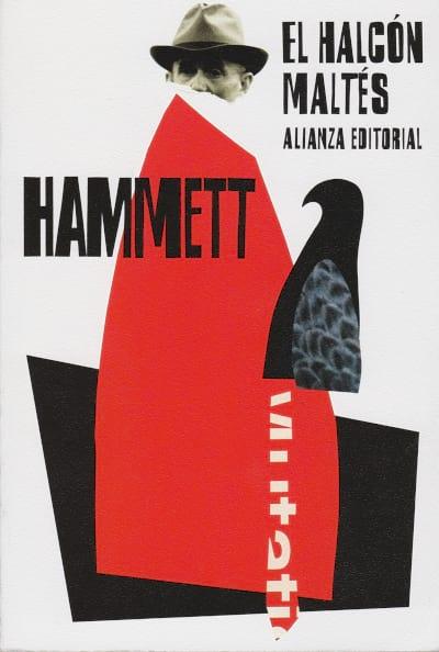 Cubierta novela El halcón maltés